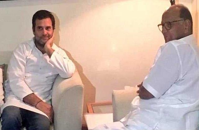 शरद पवार, राहुल गांधीं